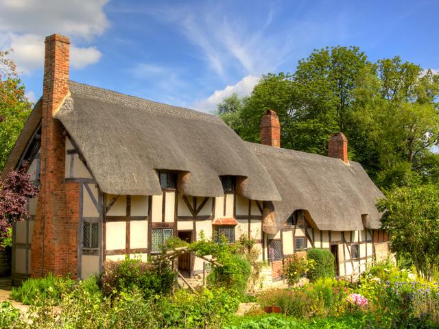 Schulfahrt England: Ausflug nach Straford (Anne Hathaway's Cottage)