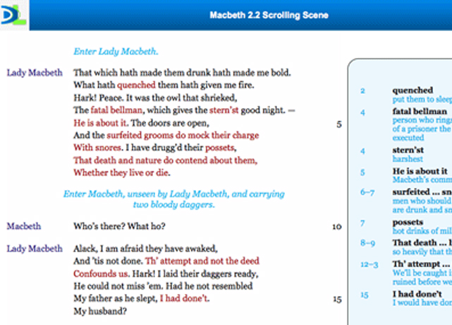 Scrolling Scene: Macbeth